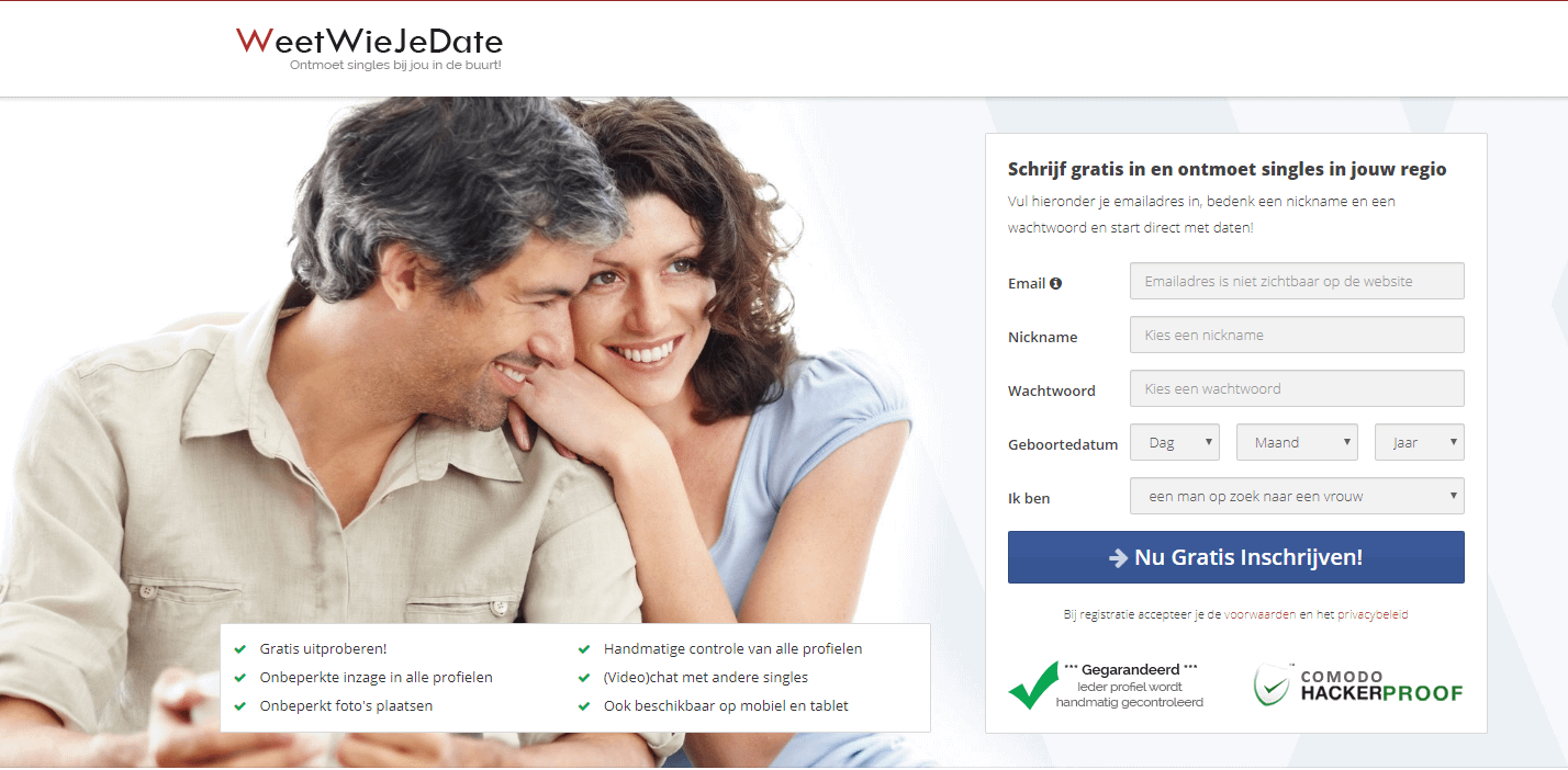 online dating site niet